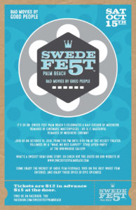 Cheese and Crackers to Emcee Swede Fest Palm Beach
